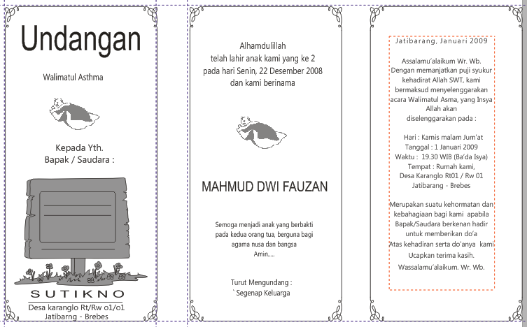 Download File Template Undangan Slametan Walimatul Astma Nama Anak