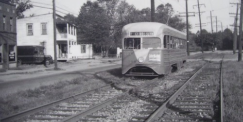 Route 10 Streetcar, Deanwood.  The route was abandoned in February 1949.