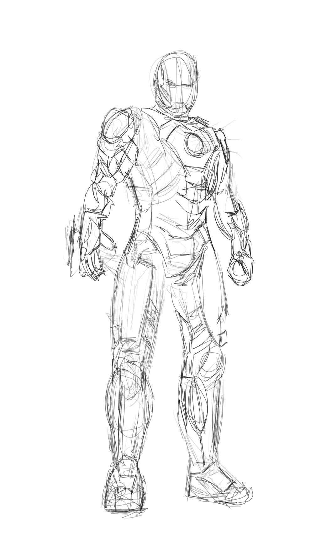 Iron Man Concept sketch by Pencilsketches on DeviantArt
