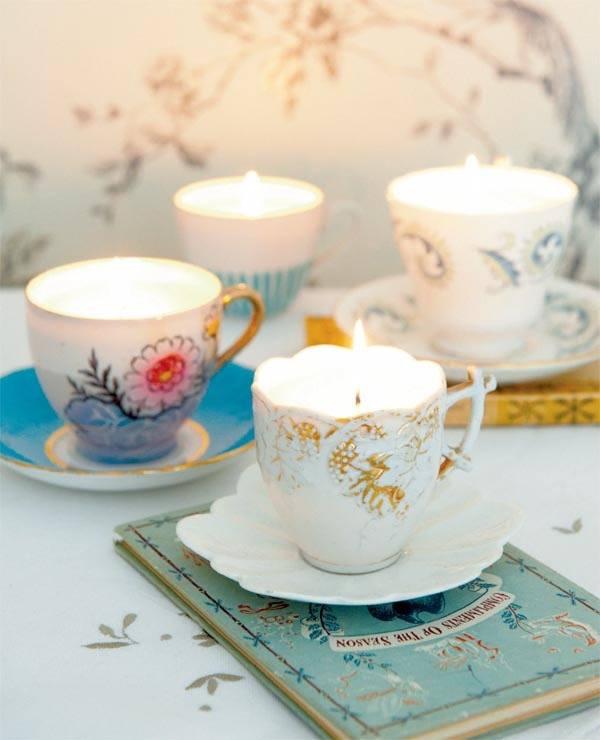 Make your own vintage teacup candles