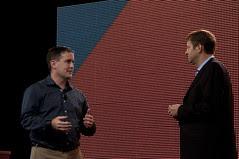 "Sean Comerford and Cameron Purdy, JavaOne 2011 San Francisco ""Java Strategey Keynote"""