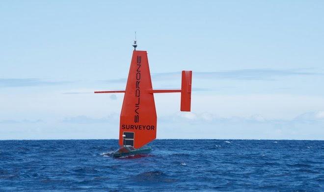 Парусный беспилотник Saildrone займется автономным картографированием океанских глубин