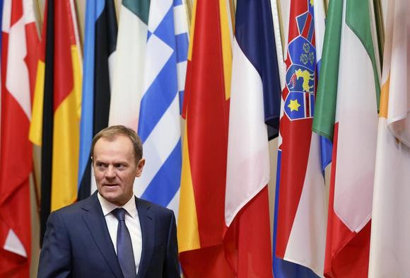 European Council President Donald Tusk waits for the arrival of Finnish President Sauli Niinisto (unseen) in Brussels January 21, 2015. REUTERS/Francois Lenoir