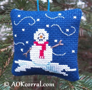 Cross Stitch Christmas Snowman Christmas Snowman Patterns For