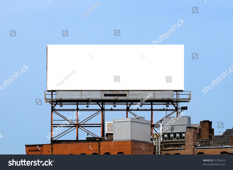 Outdoor Advertising Blank Billboard On Brick Stock Photo 31256563 ...
