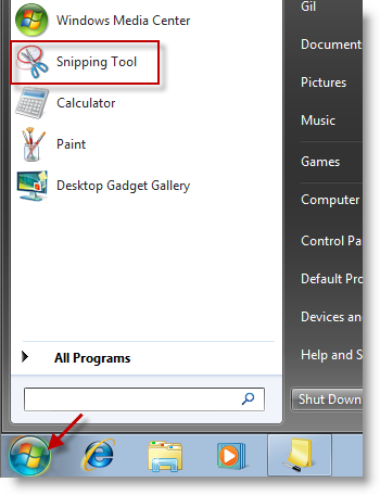 Window Snipping Tool