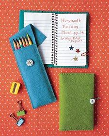 estojo capa de caderno feltro