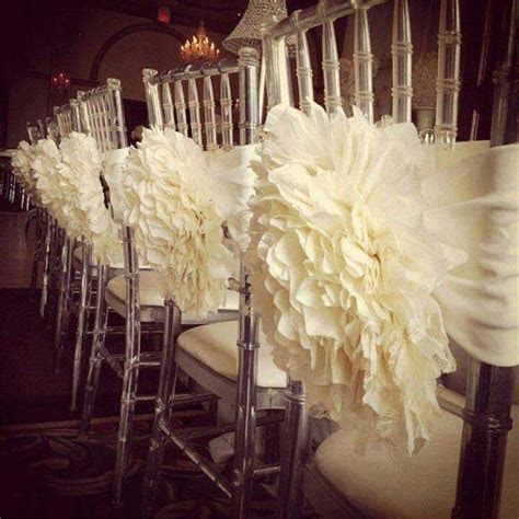 2019 Wholesale Ivory White 3D Flower Chair Covers Sashes