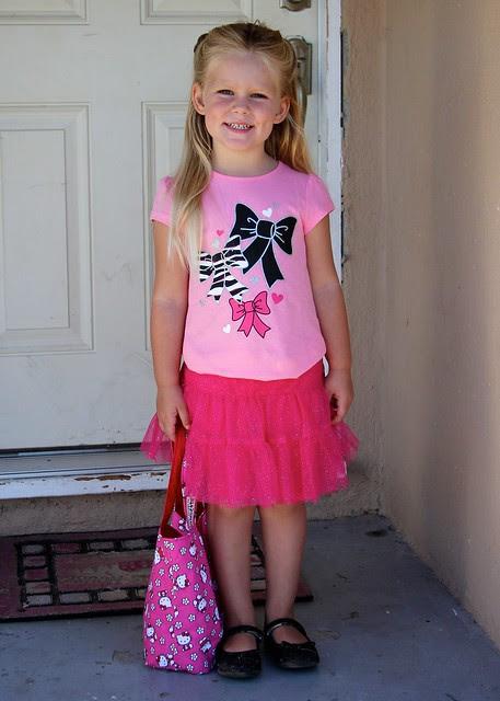 Giulietta's First Day of School 2012 1