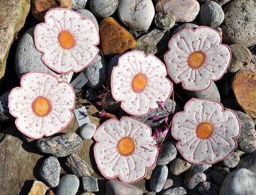 -15- lys rosa blomst by Marits Kunstquilt