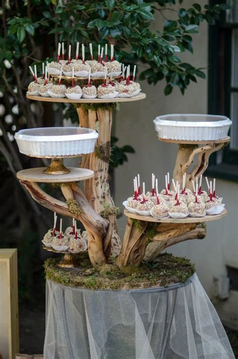 Right before the party started! A cake stand made from