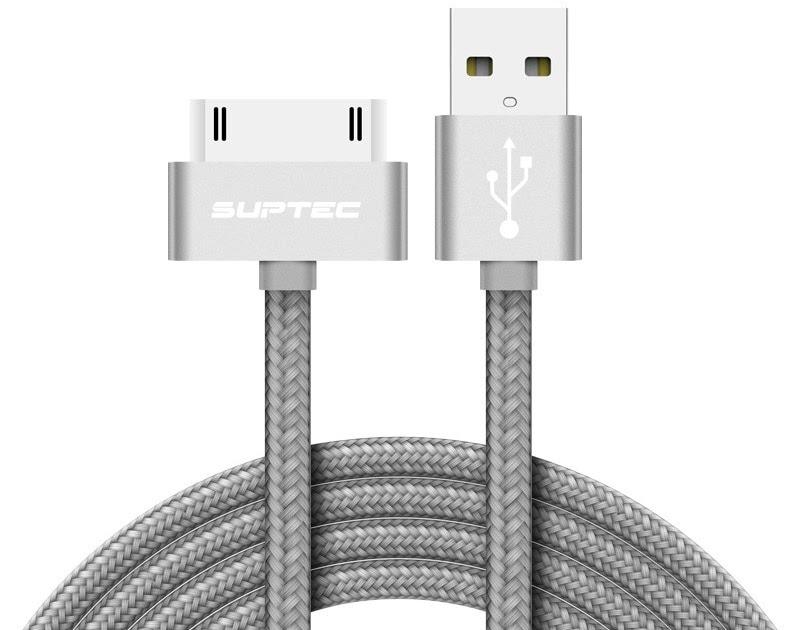 19ba31bc4bd SUPTEC Cable USB para iPhone 4 s 4S 3GS iPad 2 3 iPod Nano touch rápido de  carga de 30 pines Original adaptador de carga de Cable de datos de cargador  de ...