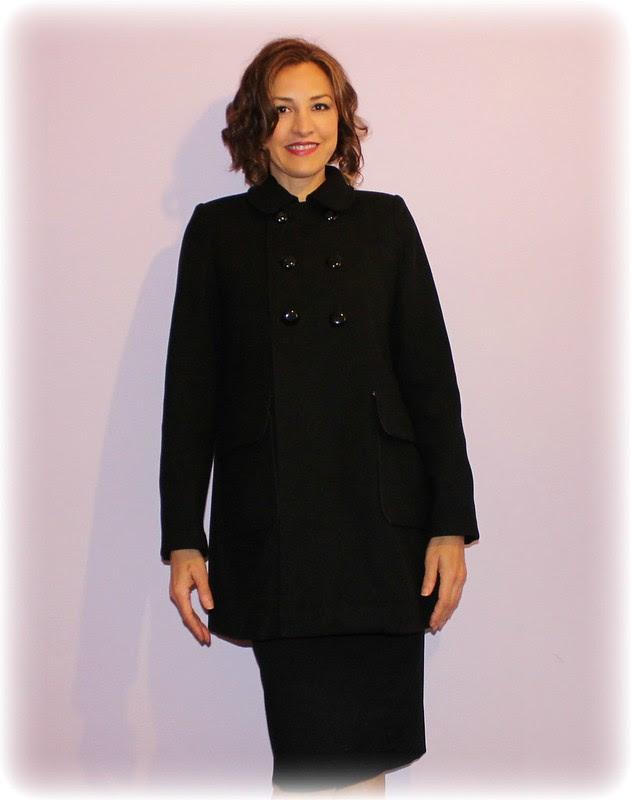Black coat front