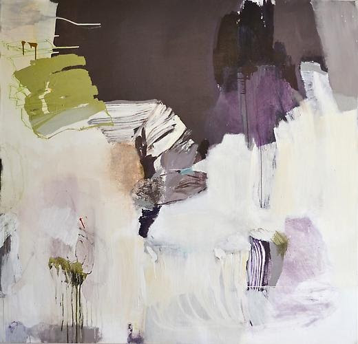 """Madeline Denaro  Passion's fruit  63"""" x 65""""  acrylic with polymers  2011"""