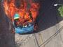 Veículos são queimados em protesto em Niterói