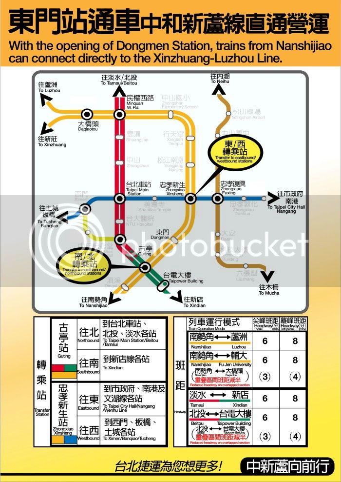 捷運東門站通車後營運方式