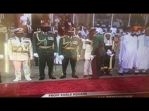 Oshiomhole 'embarrassed' For Breaching Protocol At Buhari's Inauguration