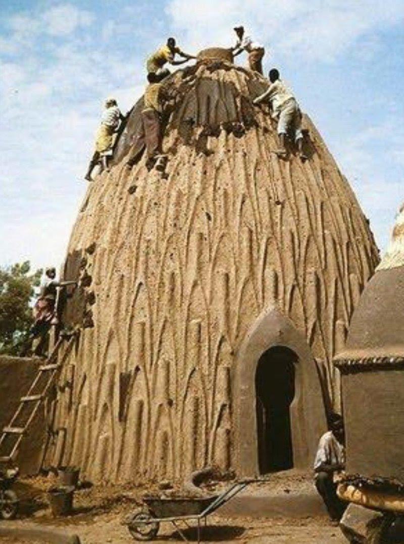 8. Дома-раковины, застывающие под палящим солнцем архитектура, африка, интересно, как живут люди, племена Африки, фото
