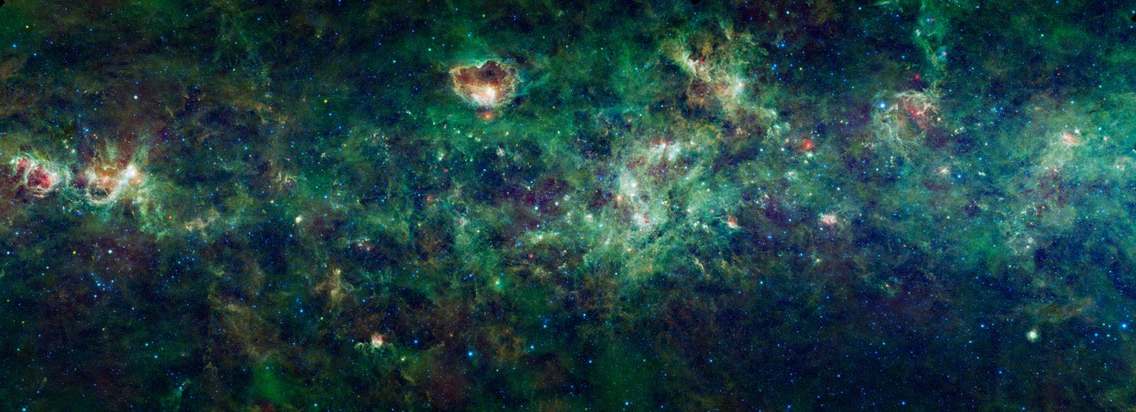 nebulae, via lactea, infrarrojos wise, galaxia