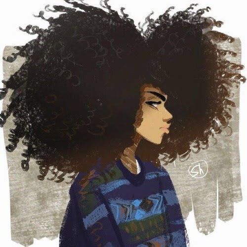 drawing  Illustration hair  girl  Meus brazil swagger curly