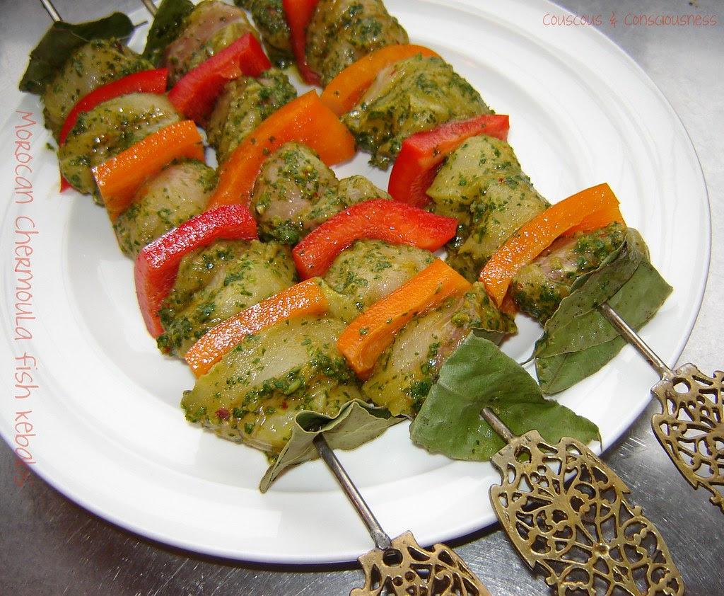 Moroccan Chermoula Fish Kebabs 2
