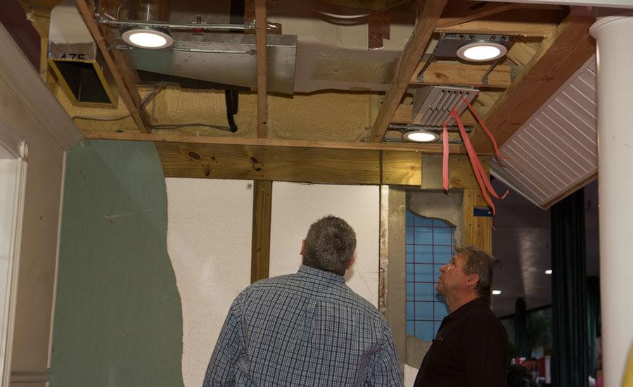 Indoor ducted mini split attic install