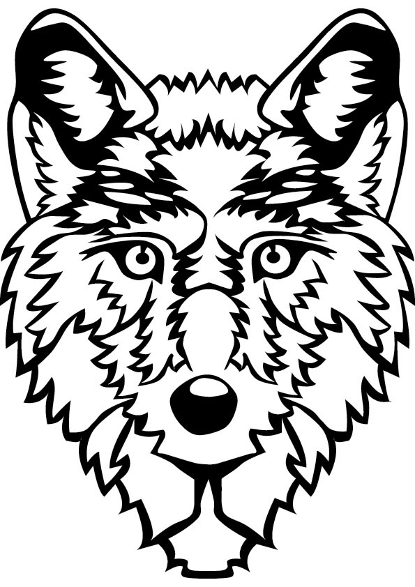 Wolf coloring pages kids