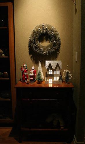 wreath and santas