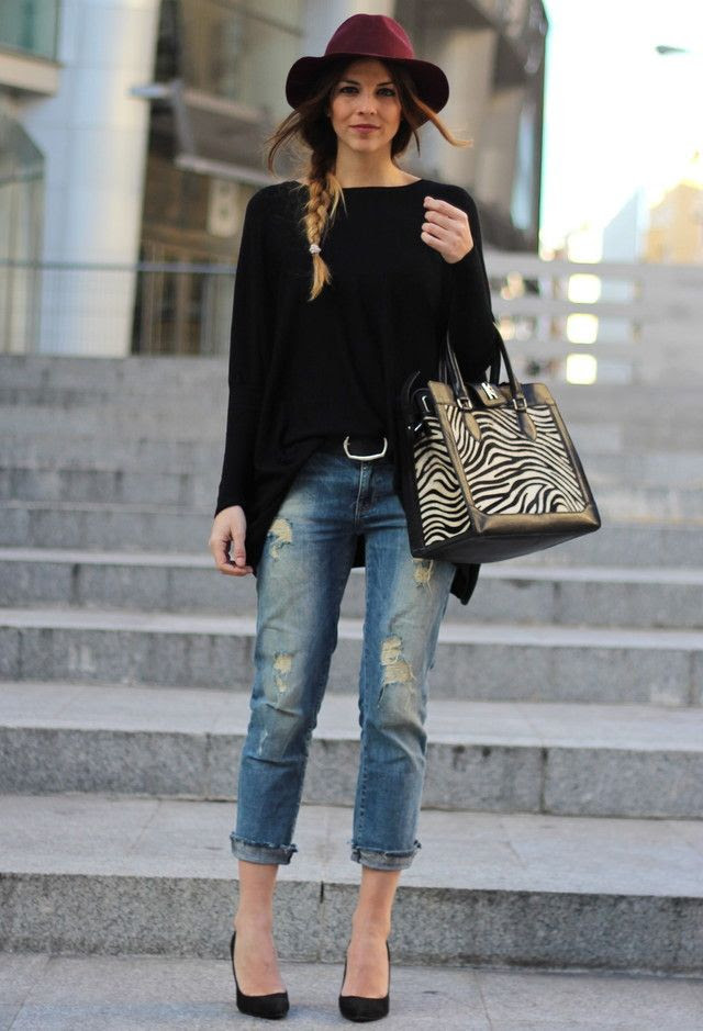 Because skinny jeans just aren't modest. Period.  Fall / spring / day out / movie night / no hat.