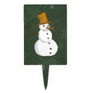 Festive Snowman Cake Pick
