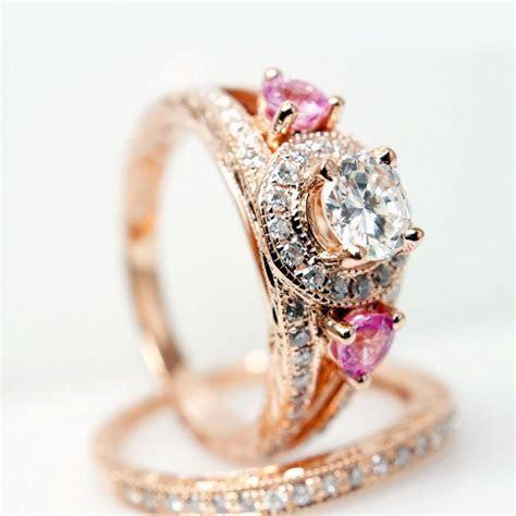 Vintage Style 14k Rose Gold Diamond Engagement Ring W