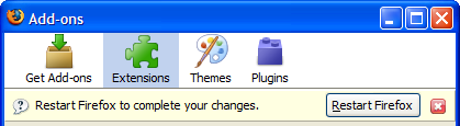 Firefox 3 Beta 3 add-ons restart
