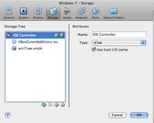 Attach Disk Controller to Virtual Box