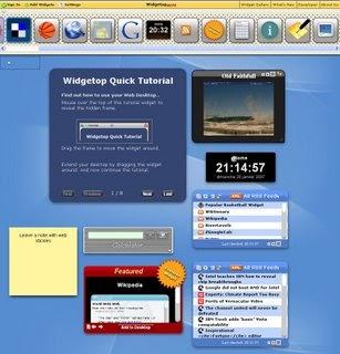 Application Web 2.0 : Widgetop, une nouvelle homepage personnalisable