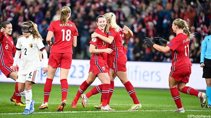 Kater voor Flames: sterk Noorwegen stuurt België met 4 goals weer naar huis