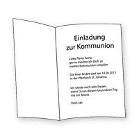 Einladungstext Zur Kommunion Texte Und Sprüche Für Einladungen