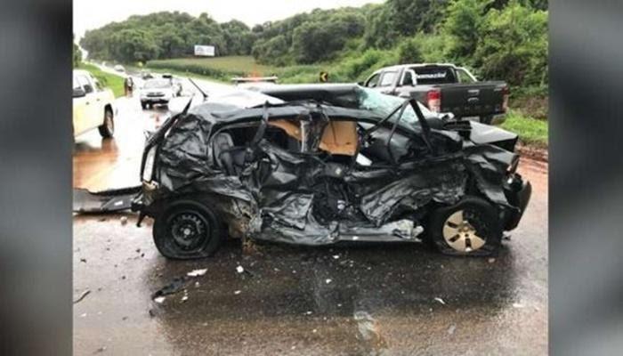 Virmond - Grave acidente deixa um ferido na BR 277