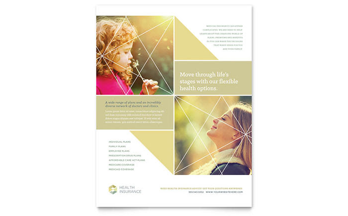 Health Insurance Flyer Template - Word & Publisher
