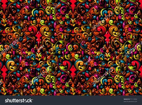 crazy floral wallpaper design stock vector