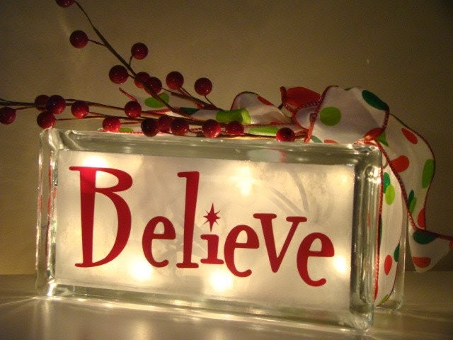 Believe vinyl glass block