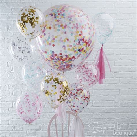 confetti filled balloons regular large  helium