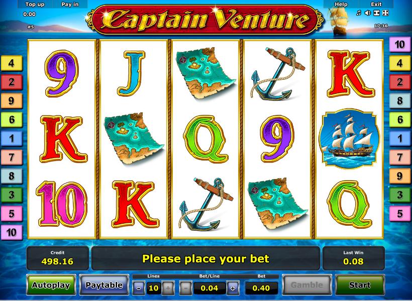 Captain venture slot machine online novomatic Ortaca