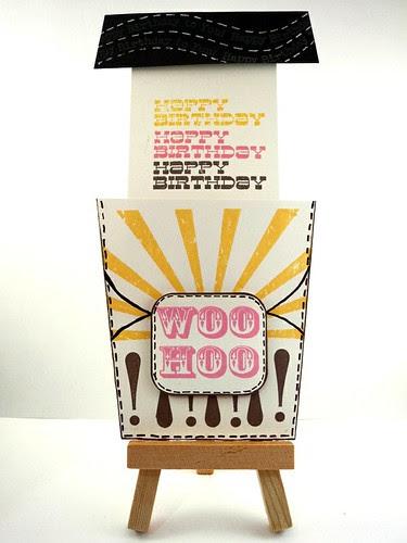 Woo-Hoo!  Ice Cream Card (Inside)