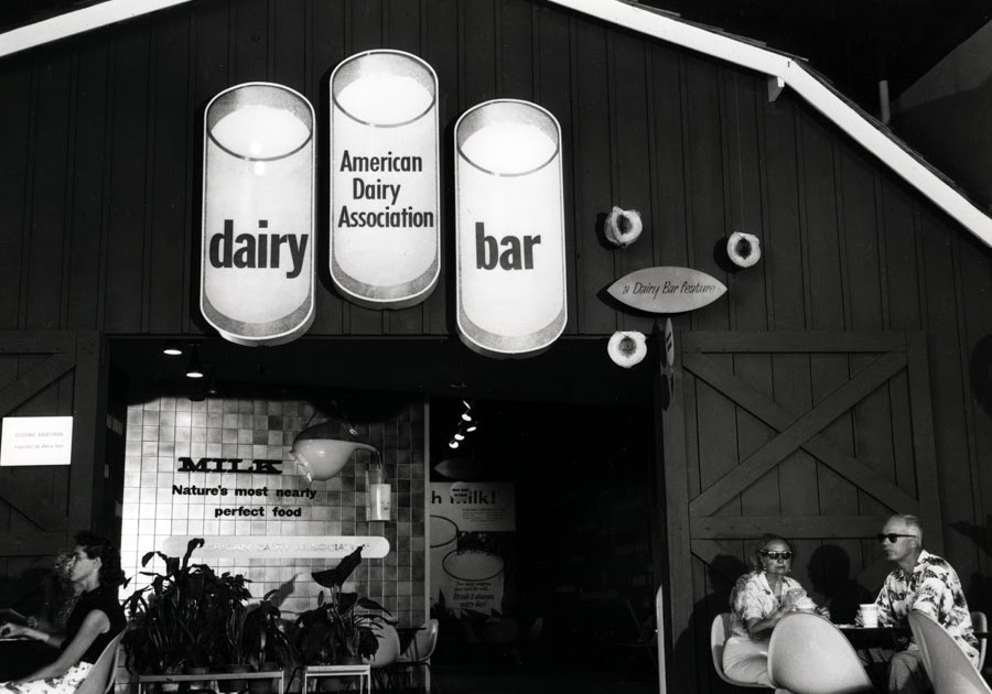Davelandblog: Early Tomorrowland Exhibits: The Dairy Bar