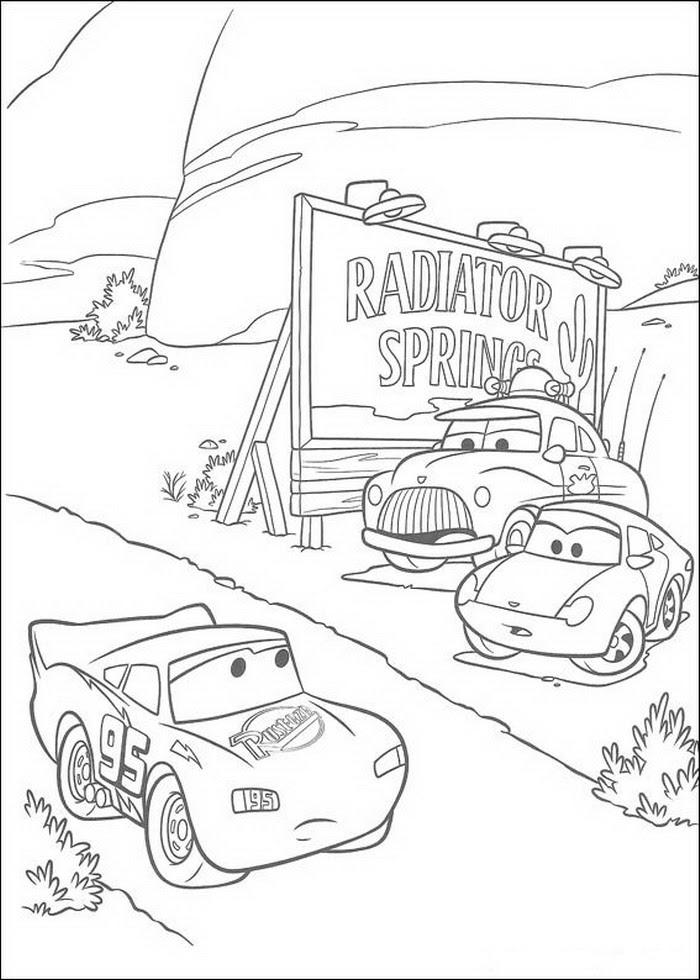 Cars Coloring Pages - Coloringpages1001.com