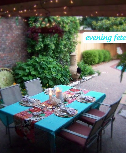 outdoor night party