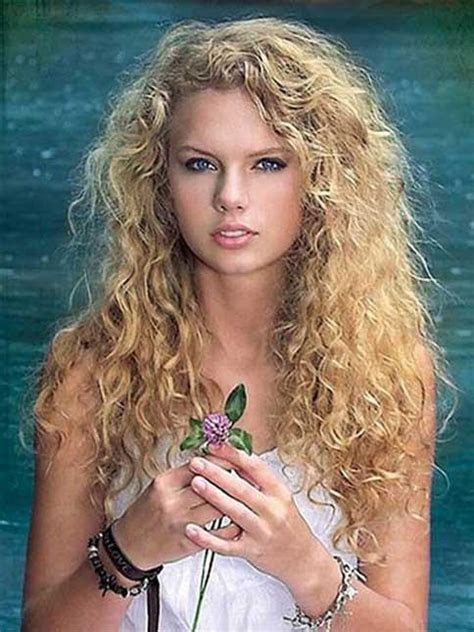 taylor swift long natural blonde curly synthetic capless