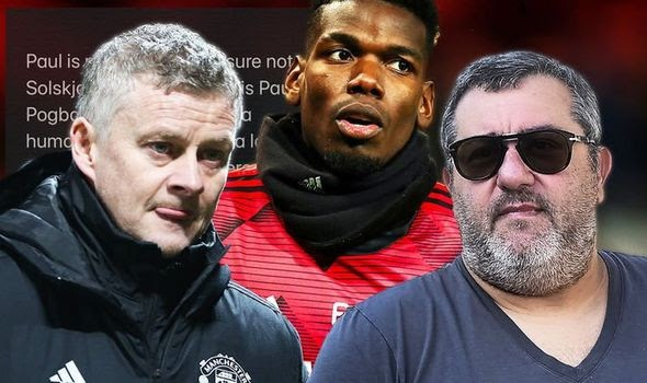 'He isn't your prisoner or your property' - Super agent Mino Raiola hits back at Man. United boss Solskjaer for comments about his client Paul Pogba