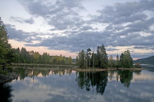 sunset at comox lake