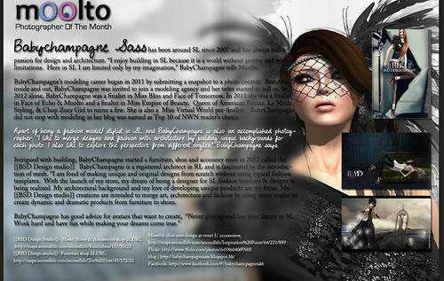 More Magazine Jan 2013 -photographer of the month {{Babychampagne sass}} by Babychampagne